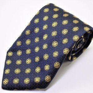 Brooksfield Navy Multicolor 100% Silk Mens Necktie